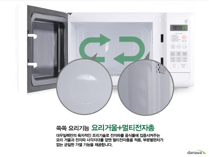 쏙쏙 요리기능 요리거울 & 멀티전자총  KR-G20EW