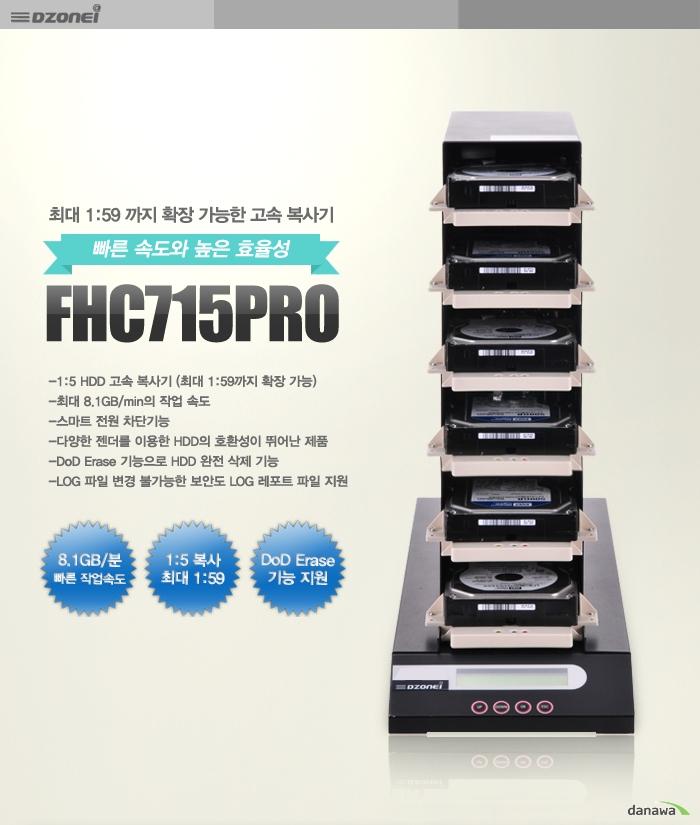 FHC715PRO 제품 정면 이미지 및 주요 기능