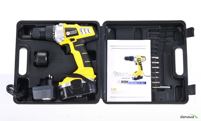 BSW 18V 충전 햄머드릴 BSW BS-1318-DB의 박스 구성품