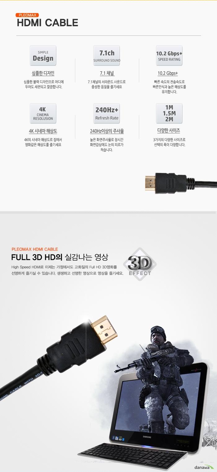 PLEOMAX HDMI Cable 주요기능 이미지