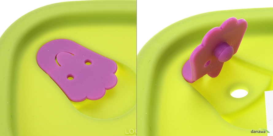 락앤락 오븐글라스 웨이브스팀홀 정사각 그린 170ml LLG161 실리콘 마개이미지