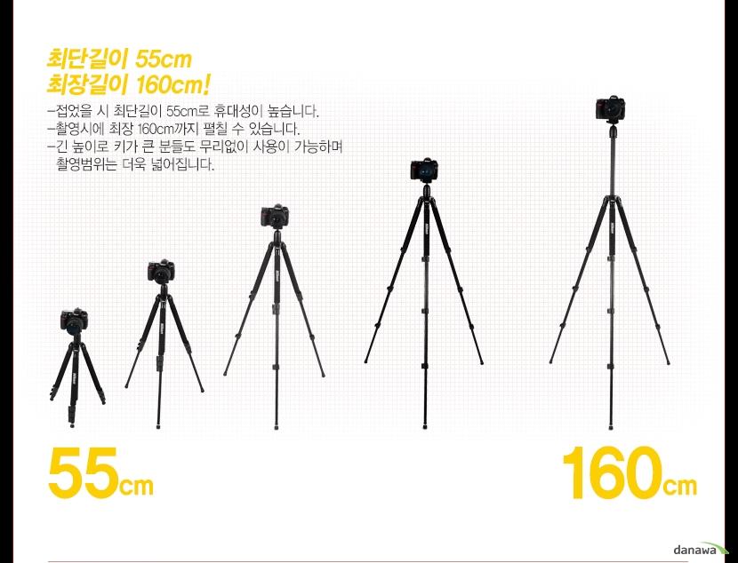 최단길이 55cm, 최장길이 160cm