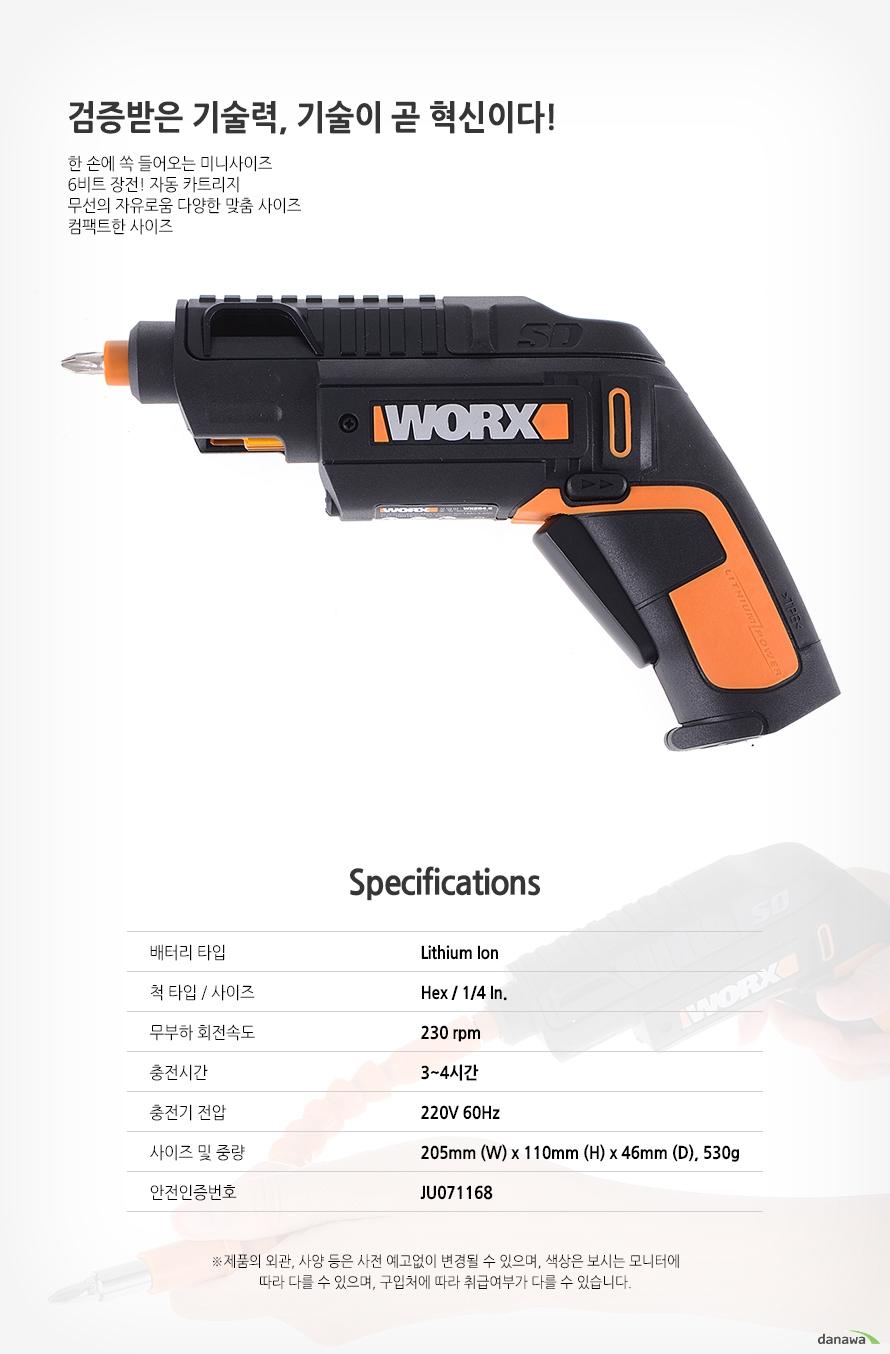 웍스 WX254.5 특징