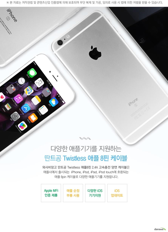 다양한 애플기기를 지원하는 딴트공 케이블.