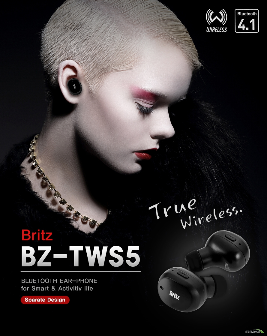 true wireless britz BZ -TWS5 Bluetooth Ear-phone for Smart Activitity life sparate design