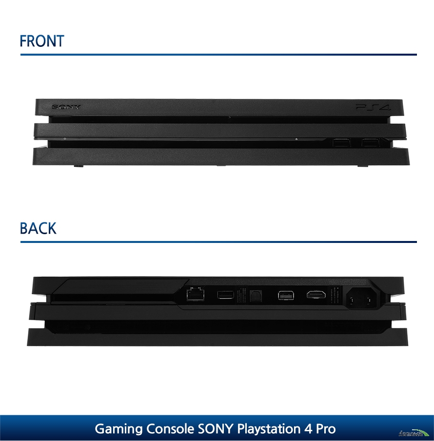 FRONTBACKGaming Console SONY Playstation 4 Pro
