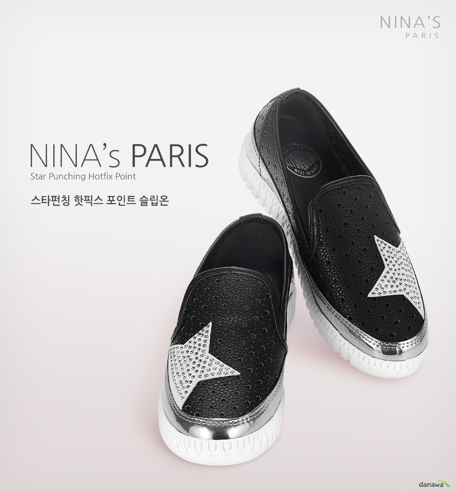 NINAS PARIS star punching hotfix point 스타펀칭 핫픽스 포인트 슬립온