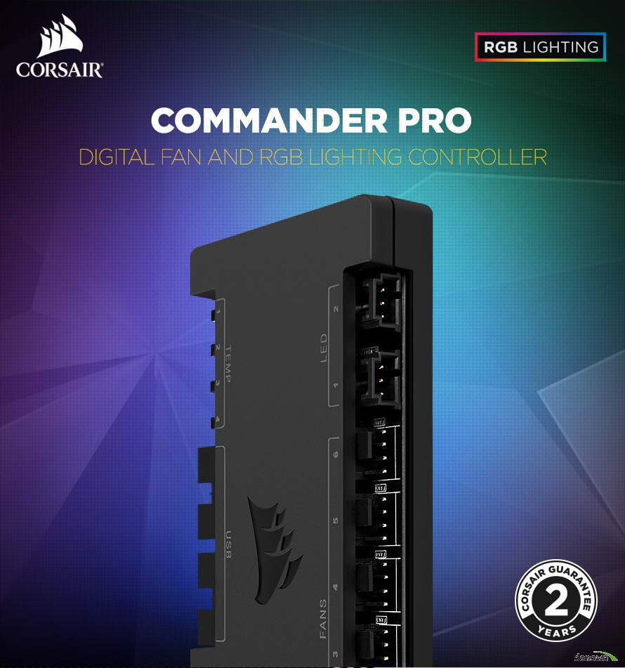 COMMANDER PRODigital fan and rgb lighting controller