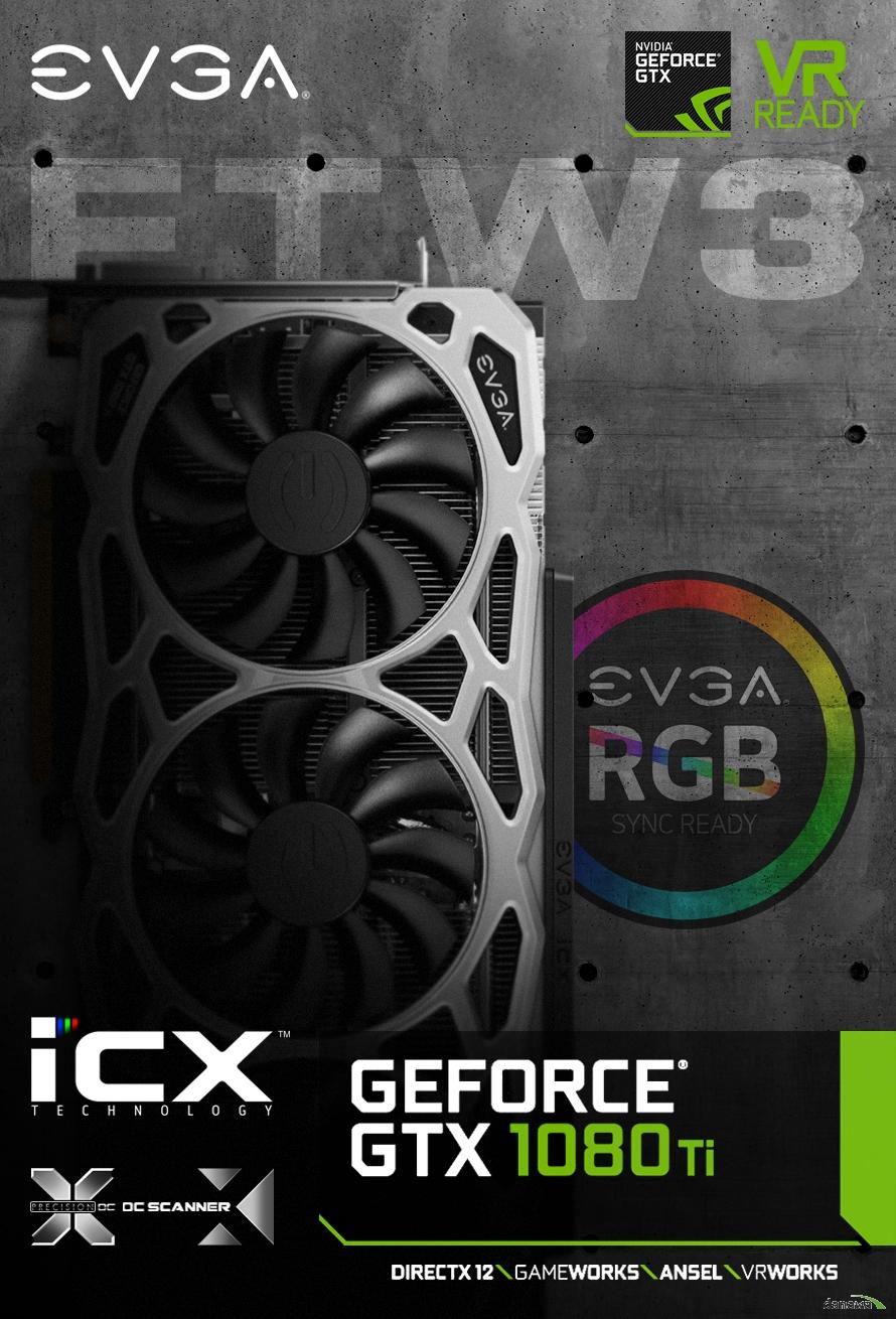 EVGA 지포스 GTX 1080 Ti FTW3 GAMING D5X 11GB