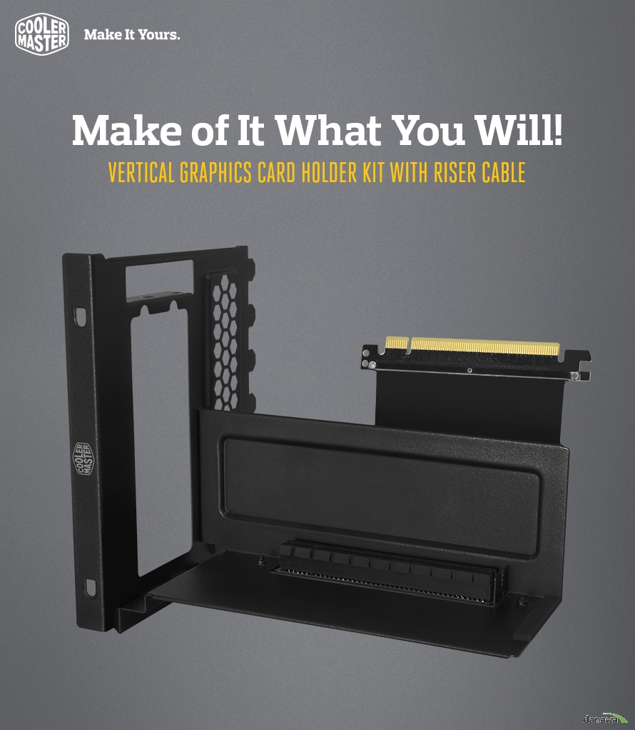 Make of It What You Will!Vertical Graphics Card Holder Kit with Riser Cable그래픽카드 수직 설치 키트