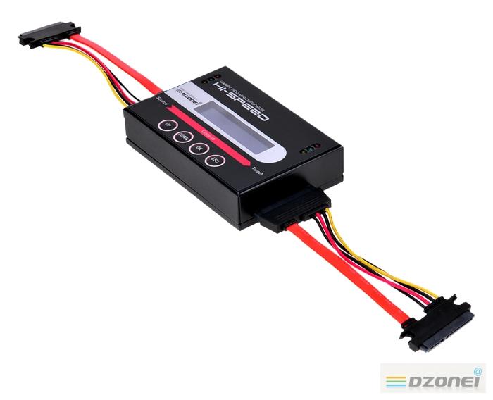 디지털존 FHC 511 Pro과 SATA커넥터가 연결된 이미지