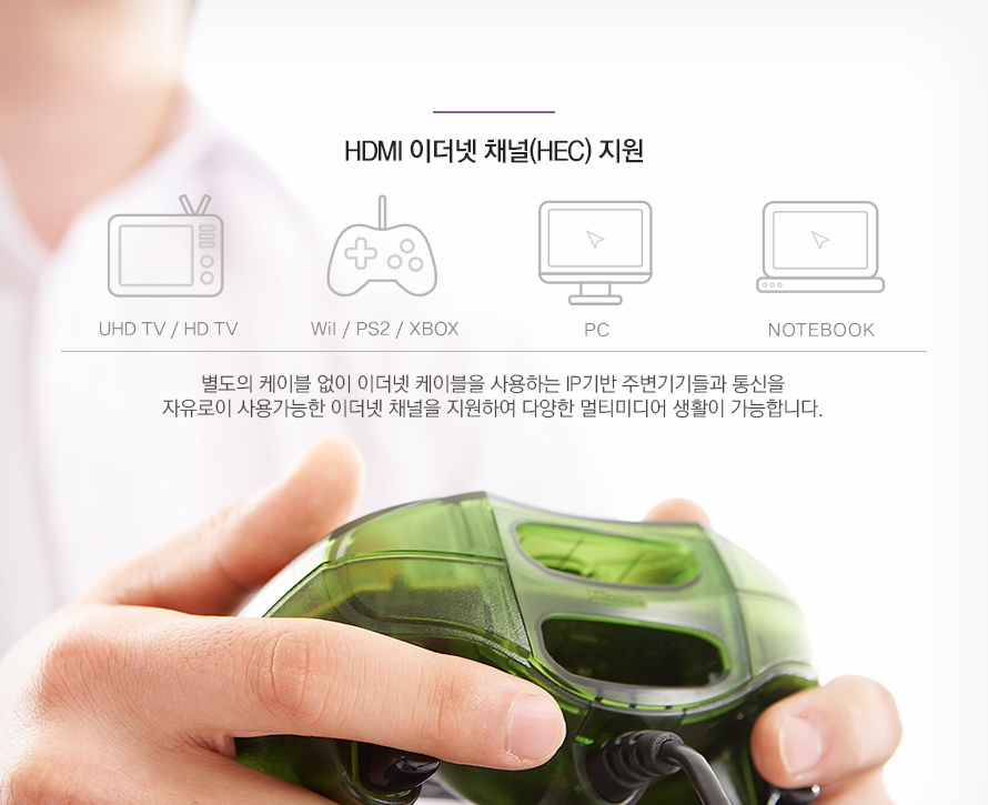 HHDMI 이더넷 채널 지원