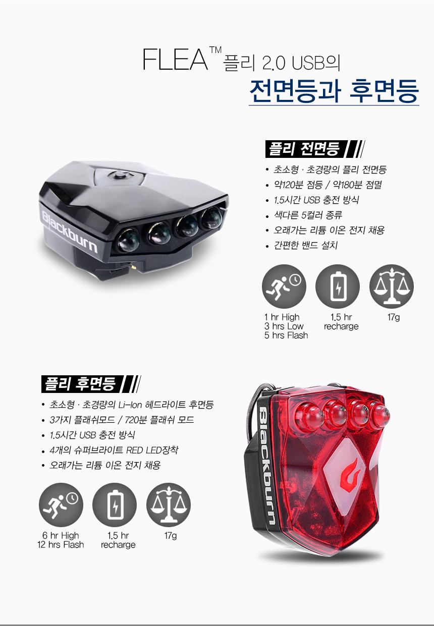 플리 2.0 USB 전면등과 후면등 주요설명
