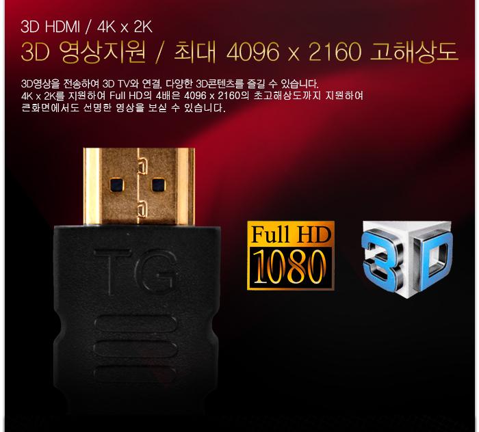 3D 영상 지원 / Full HD / 4K x 2K